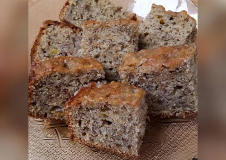 Resep: Cake Pisang Kacang tanpa Mixer yang bikin ketagihan