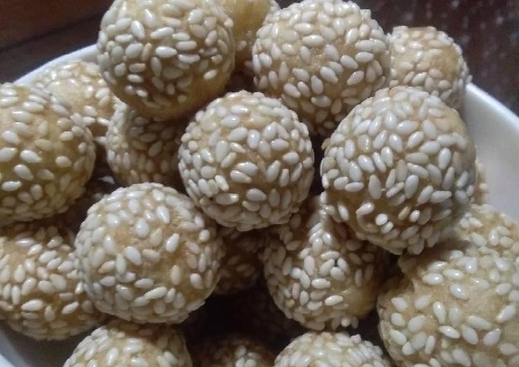 Cara memasak 67. 7 Bola-bola wijen / keciput garing