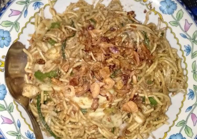 Cara Mudah memasak Pecel sayuran mix mie kuning no lontong lezat