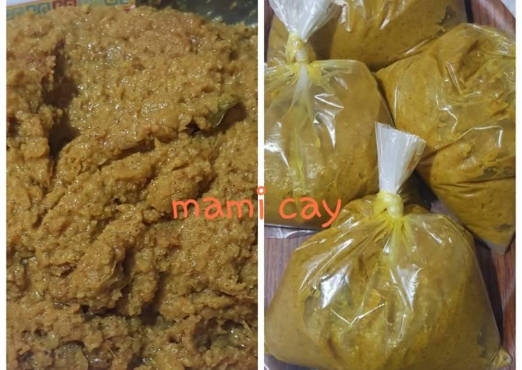 Cara memasak Bumbu Celimpungan dan Lontong Palembang