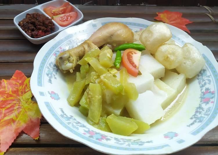 Cara memasak Lontong(shirataki) sayur ala resto