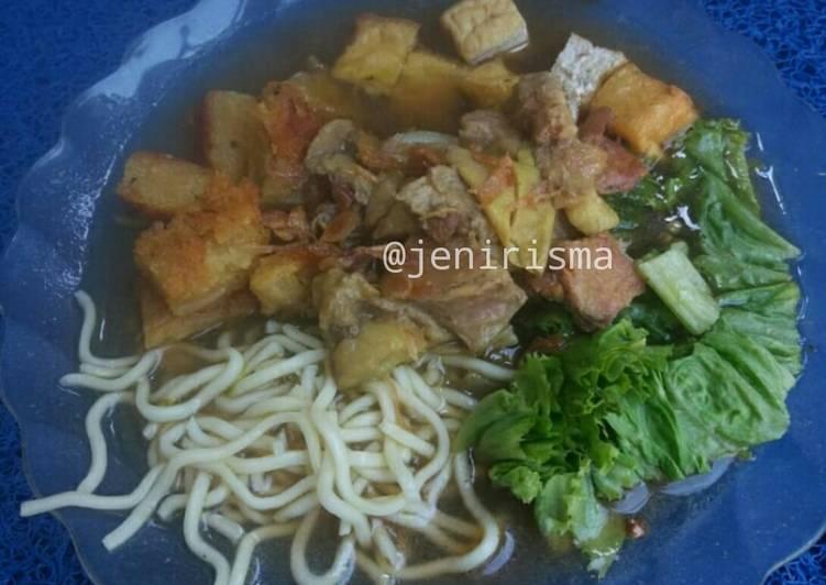 Resep memasak Tahu campur khas lamongan