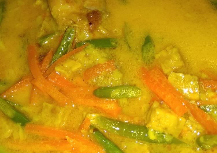 Resep mengolah Sayur kuning (kuah lontong) enak
