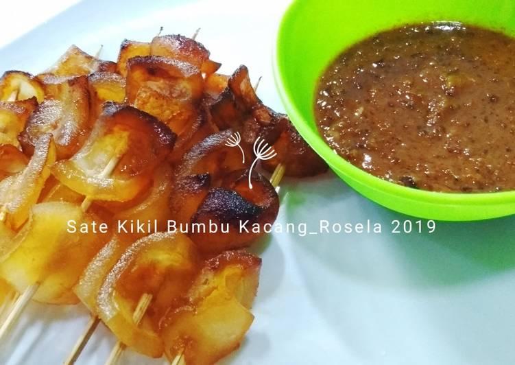 Resep: Sate Kikil Bumbu Kacang ala resto