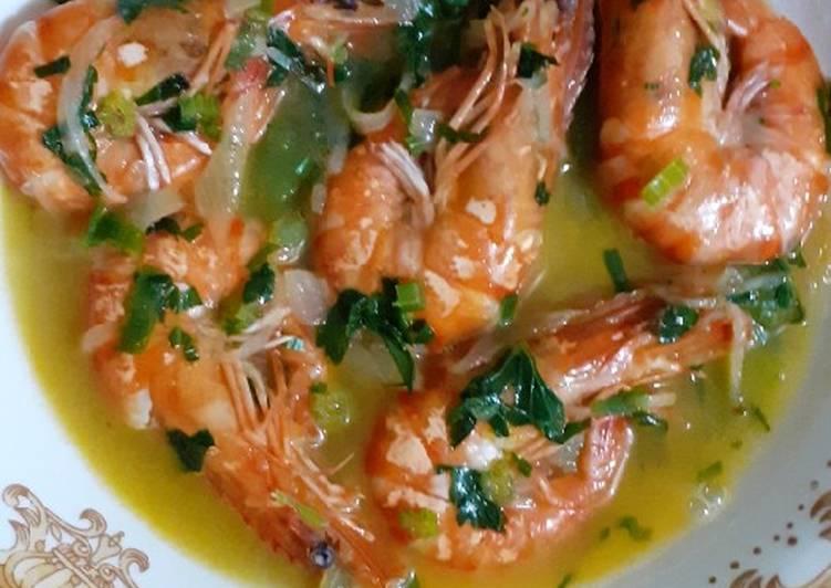 Resep memasak Soup shrimp keto ala resto