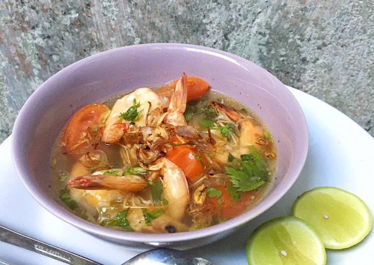 Resep: Sup udang galah yang menggugah selera