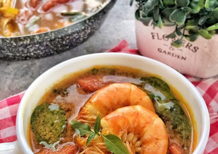 Cara Mudah membuat Sup Udang Kemangi yang bikin ketagihan
