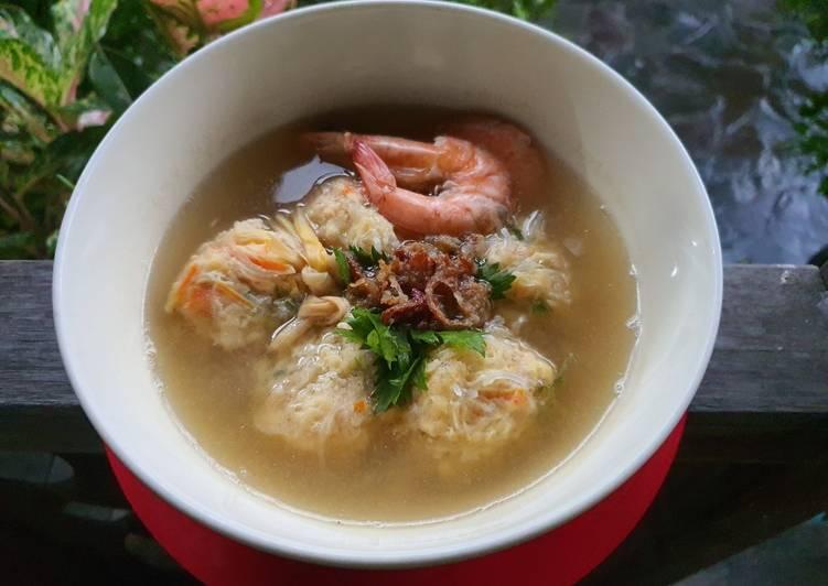 Cara memasak 53. Sup Udang Bakso Rambutan yang bikin ketagihan