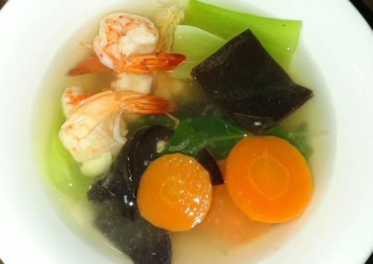Resep memasak Sup udang bening ala resto