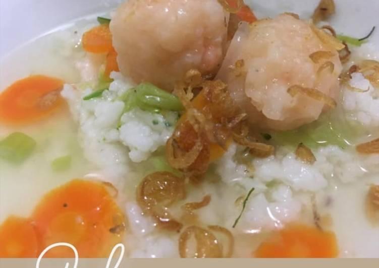 Resep membuat Nasi sop bakso udang yang menggugah selera
