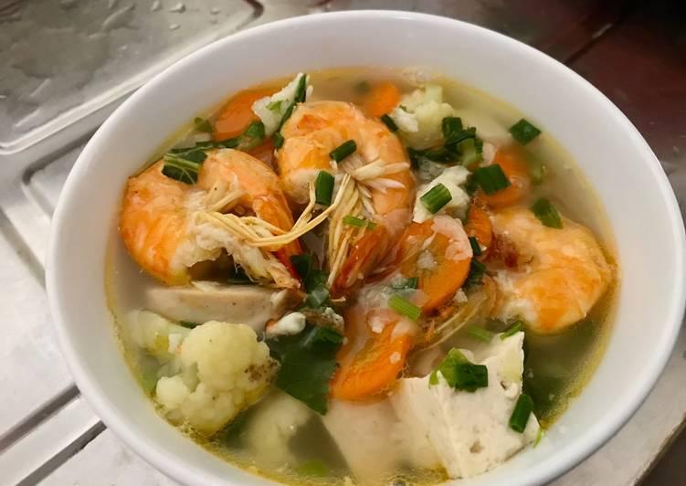 Resep: Sup udang tahu bakso yang bikin ketagihan