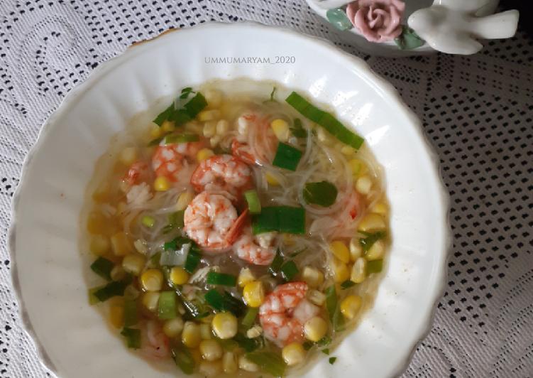 Cara memasak Sup Jagung & Udang lezat