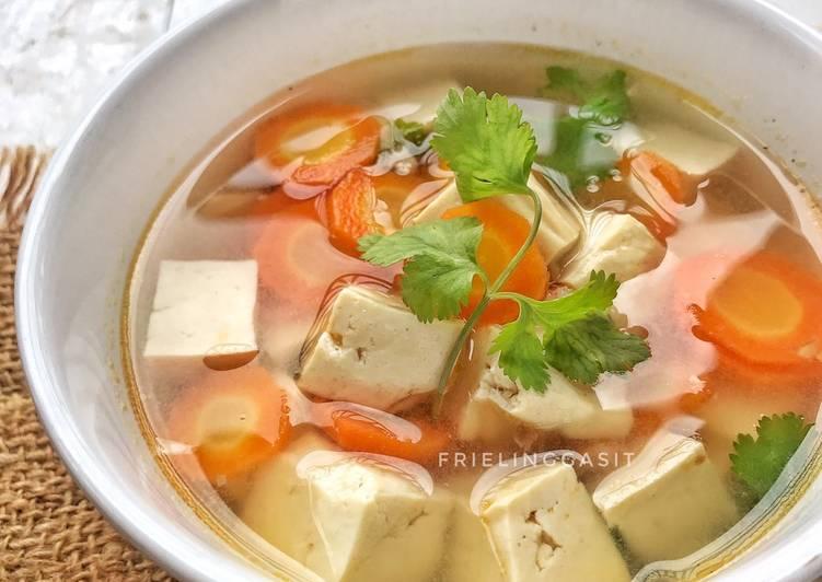 Cara Mudah mengolah Sup tahu udang ala thai yang menggugah selera
