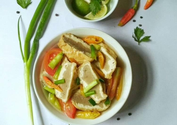 Cara Mudah memasak Sup Tahu Bakso Kaldu Udang Huh Hah ala resto
