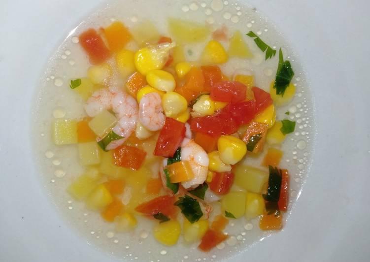 Cara Mudah membuat Sop udang ceria 😊🤭