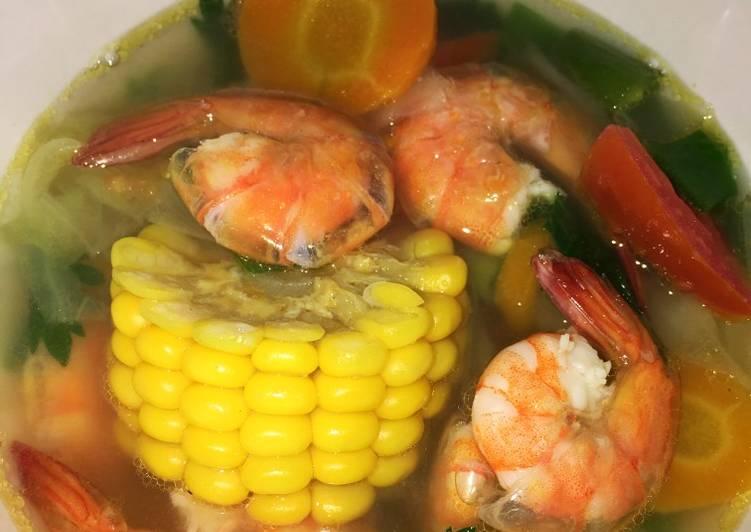 Resep: Sup Udang Special Tanpa Minyak yang menggugah selera