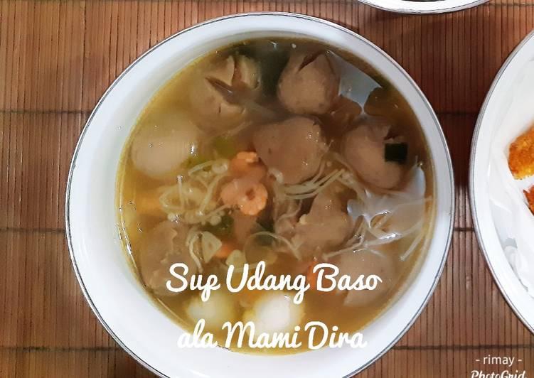 Resep: Sup Udang Baso ala Mami Dira