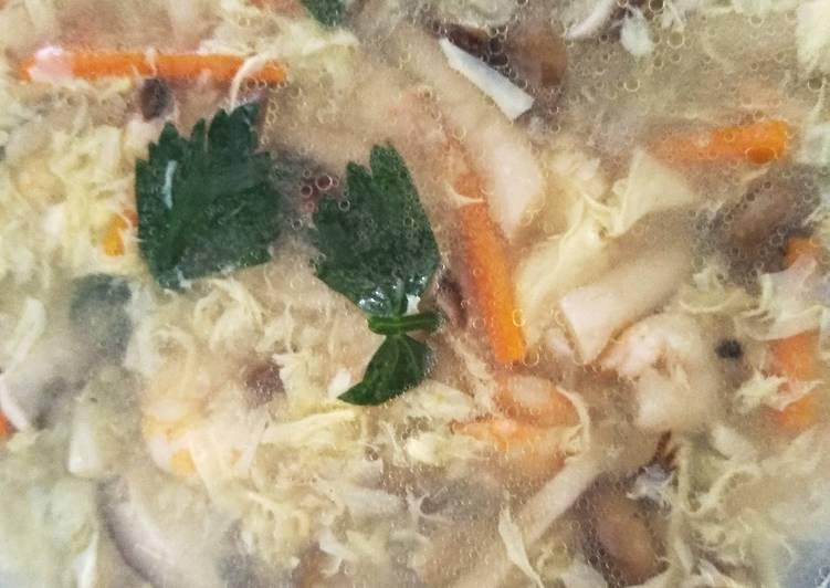 Resep mengolah Sop Udang Jamur yang bikin ketagihan