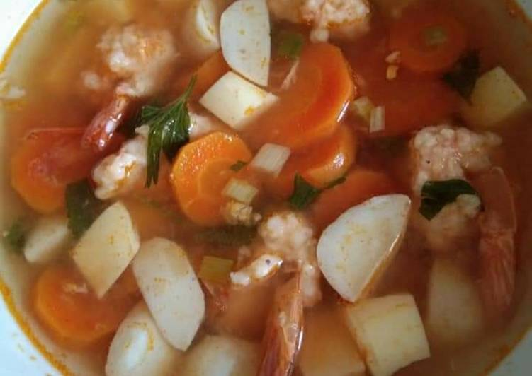 Resep: Sup bakso udang yang menggugah selera