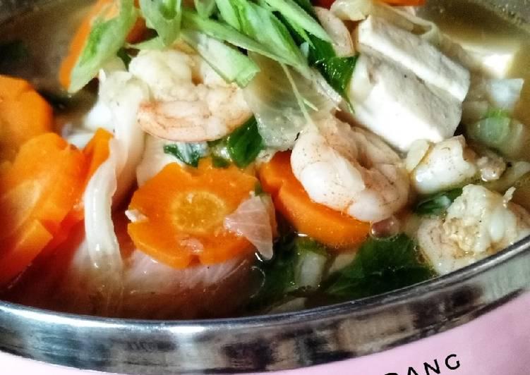 Cara membuat Sup Tahu Udang yang menggugah selera