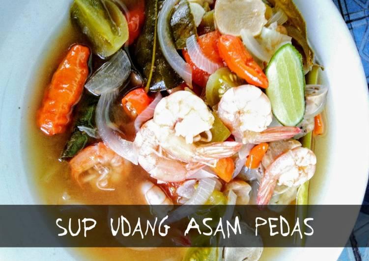 Resep membuat Sup Udang Asam Pedas ala resto