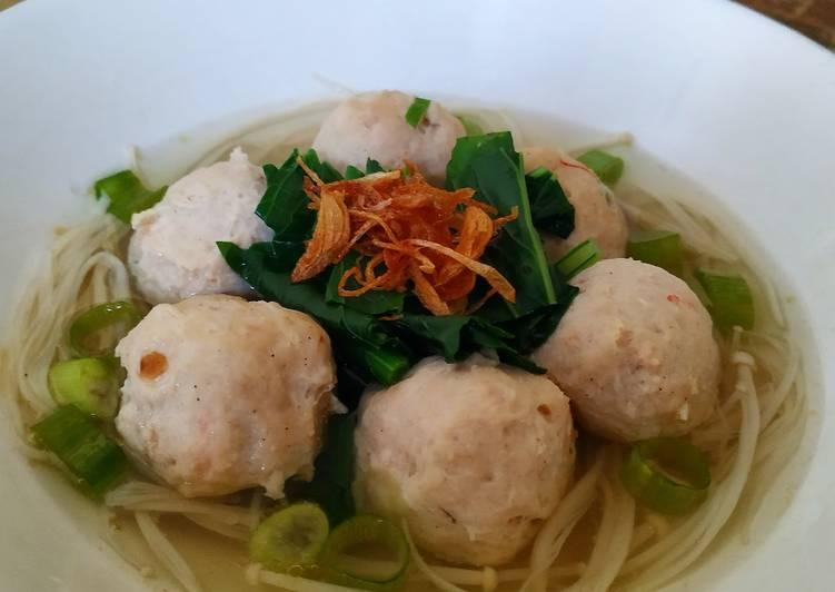 Resep: Sup Baso Ayam Udang#keto ala resto