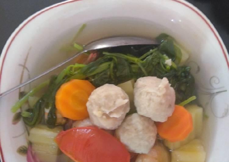 Resep: Sayur Sup udang bakso lezat