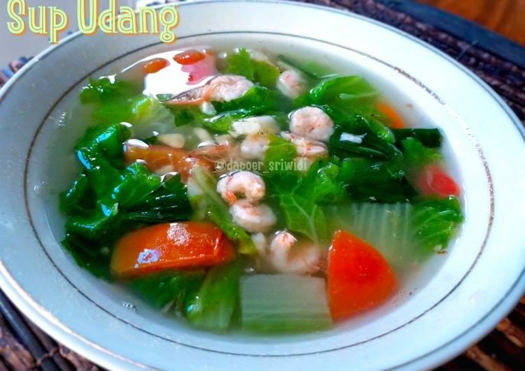 Resep mengolah Sup Udang ala resto