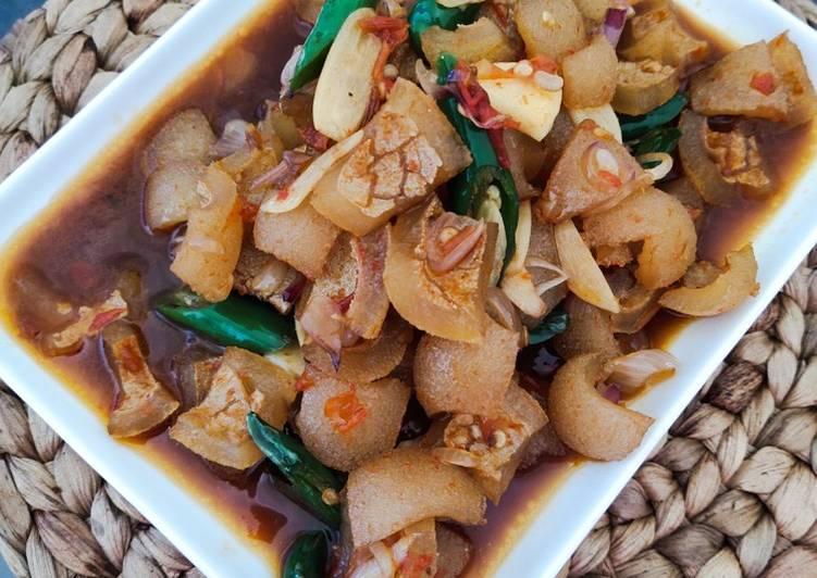 Resep memasak Cecek / kikil sapi kecap pedas cabe ijo
