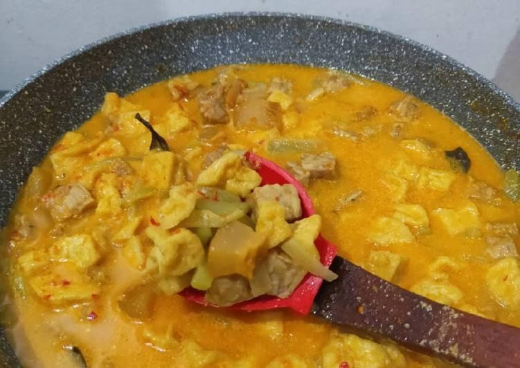 Resep: Sayur Labu Siam (krecek/ cecek + tahu + tempe) lezat