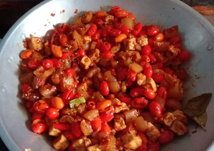 Resep: Oseng Tahu,Cecek dan Kulit Melinjo lezat