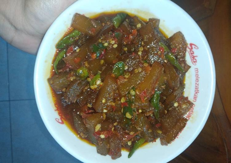 Resep: Oseng Cecek (kulit sapi) lezat