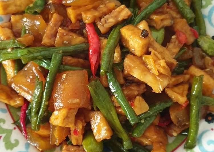 Resep: Tumis kacang panjang + cecek yang menggugah selera