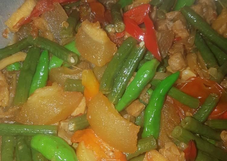 Resep memasak Tumis cecek kacang panjang