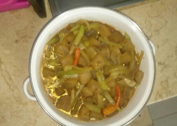 Resep mengolah Tumis sayur labu Siam campur cecek lezat