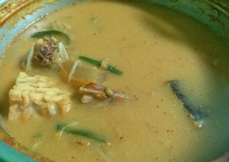 Resep: Sayur lodeh ikan pe / ikan pari.cecek&tempe lezat