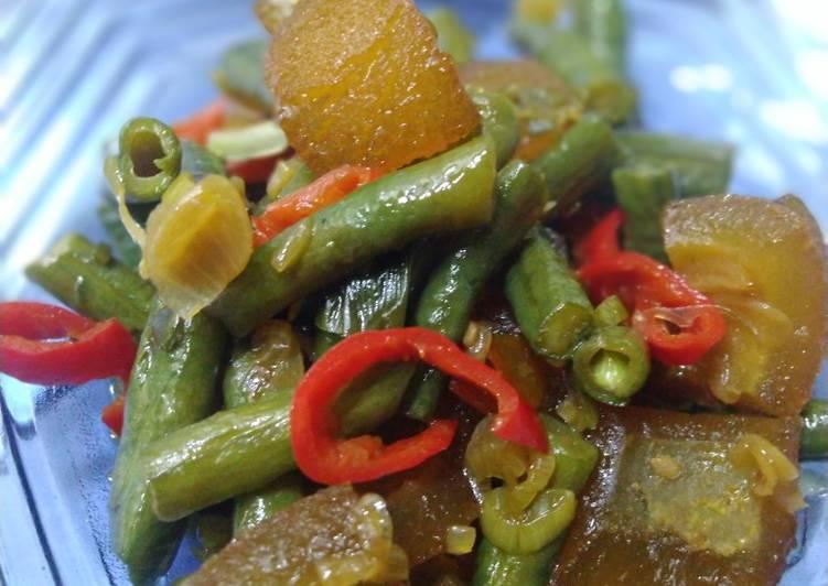 Resep: Tumis kacang panjang dan cecek lezat