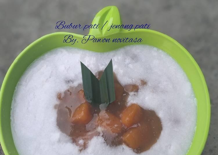 Resep: Bubur pati / jenang pati yang menggugah selera