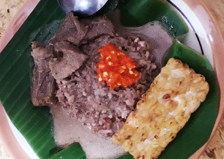 Resep: Nasi (merah) gandul khas Pati istimewa