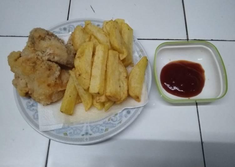 Resep: Ayam goreng (pakai tepung aci/pati 😝) ala resto