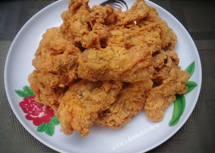Resep: Ayam goreng tepung lezat