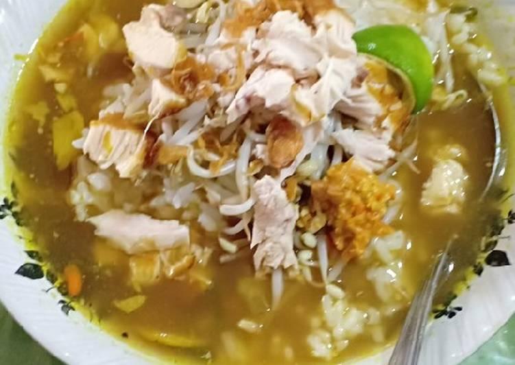 Cara memasak Soto Ayam sambal kemiri enak