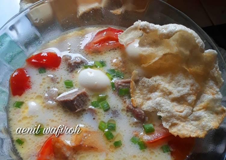 Resep memasak Soto betawi (susu santan) enaaak 😍 istimewa