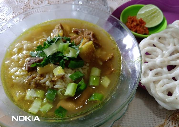 Resep: Soto daging (soto madura) enak
