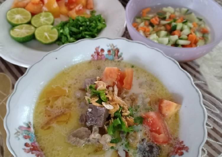 Cara memasak Soto Betawi Gurih yang menggugah selera