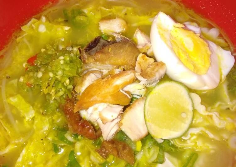Resep memasak Soto Ayam ala kadarnya yang bikin ketagihan
