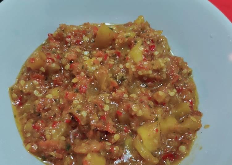 Cara Mudah memasak Sambal goreng Rembang/terong asam
