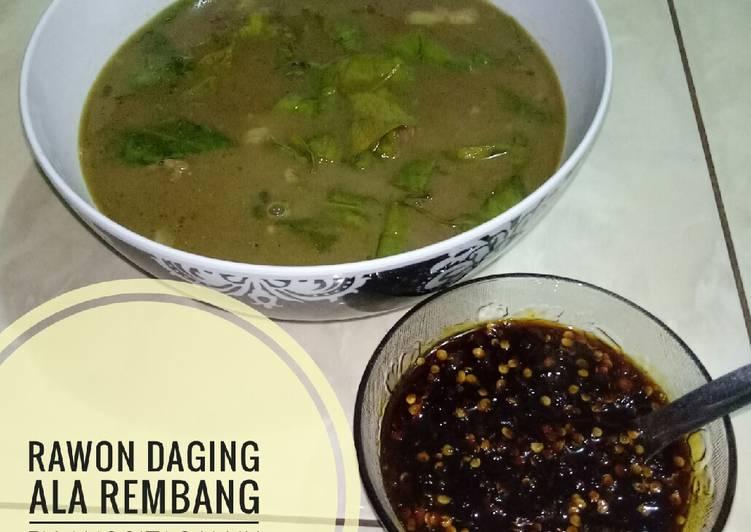 Resep mengolah Rawon Daging ala Rembang