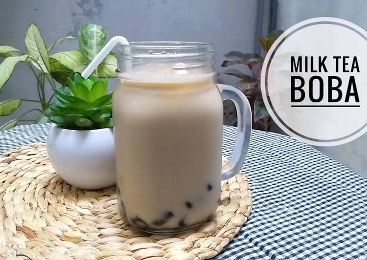 Resep: Milk tea boba