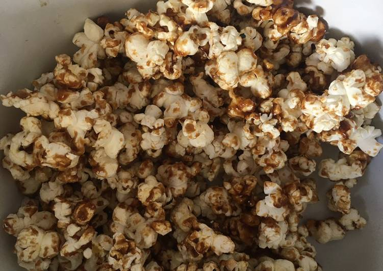 Resep: Palm sugar caramel popcorn istimewa